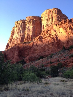 COURTHOUSE ROCK IN SEDONA, ARIZONA BY WISE OWL ELISA